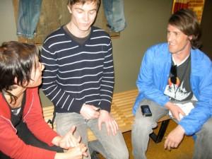 Kim, Matt, and Greg Humber (L to R)
