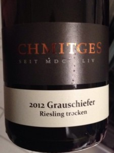 """2012 Schmitges Riesling Trocken """"Grauschiefer"""""""