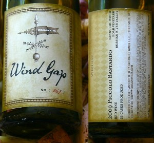 "2013 Wind Gap Trousseau Gris ""Fanucchi-Wood Road Vineyard"" Russian River Valley"