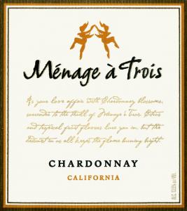 2012 Menage A Trois Chardonnay