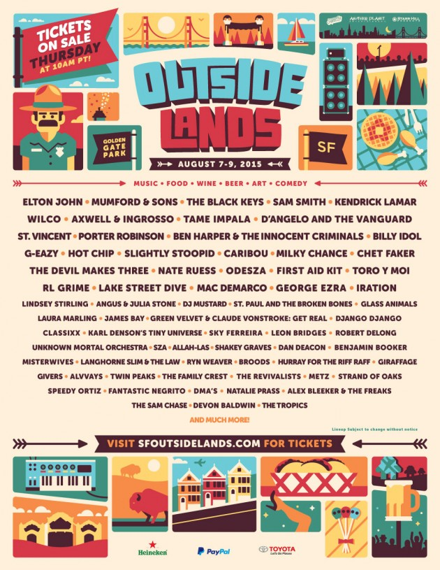 Outside Lands Poster 2015
